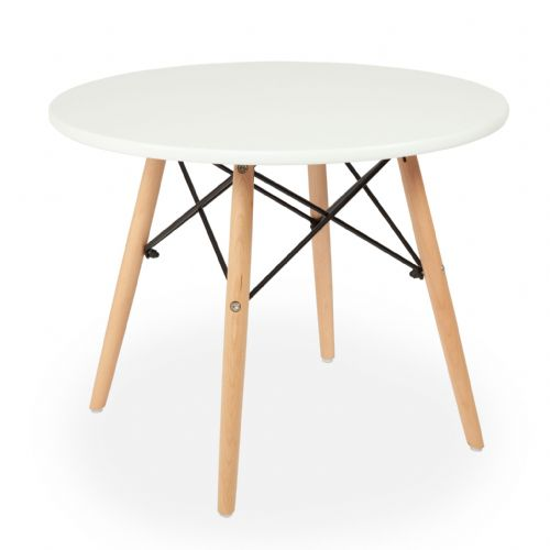 Child's Eiffel Round Table, White  60cm